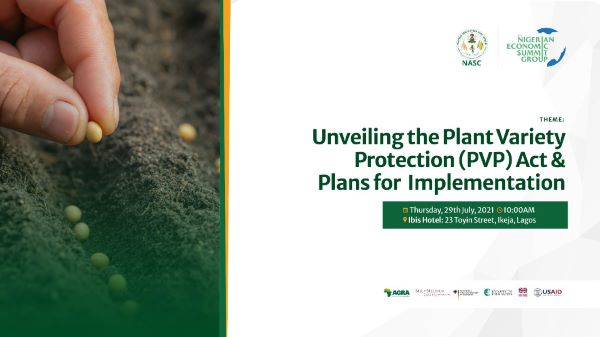 NASC, NESG unveils the Plant Variety Protection (PVP) Act 2021